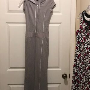 Women's Hot Kiss jumpsuit in grey and silver